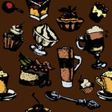 Set of cakes and desserts Stock Photography