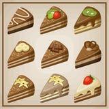 Set of cakes. Royalty Free Stock Image