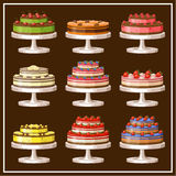 Set of cakes. Royalty Free Stock Photos