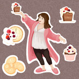 Set of cakes Stock Image