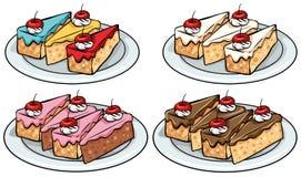 Set of cakes. On a white background stock illustration