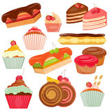 Set of Cakes Stock Photo