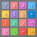 Set of calculator flat icons Royalty Free Stock Images