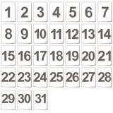 Set of calendar files Stock Photography