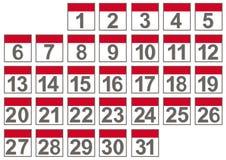 Set of calendar files Stock Images