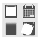 Set the calendar icon,  illustration. Stock Photos