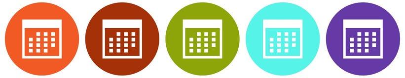 Set of calendar icon. Vector illustration of rounded calendar icon set on white background Royalty Free Stock Photos