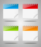 Set of  calendar icons Royalty Free Stock Image