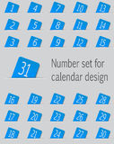 Set of calendar icons with numbers. Vector Stock Photo