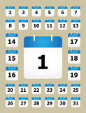 Set of calendar pages Royalty Free Stock Photo