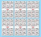 Set of calendar template in retro style Royalty Free Stock Image