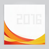 Set Calendar 2016 Vector Design Template. Week Starts Orange. Calendar 2016 Vector Design Template. Week Starts Orange vector illustration