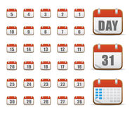 Set of calendar web icons Stock Images