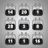 Set calendar web icons Royalty Free Stock Images