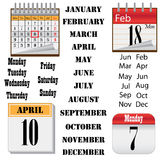 Set of calendars. Stock Image