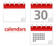 Set of Calendars. Set of 3 calendars in web 2.0 style vector illustration