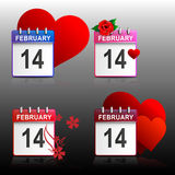 Set calendars Valentines Stock Photo