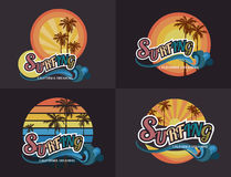 Set of California surf typography, t-shirt graphics , vector for Stock Photos