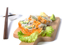 Set of California sushi rolls Stock Photos