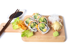 Set of California sushi rolls Royalty Free Stock Image