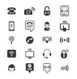 Set of call center operator icons. vector Stock Photo