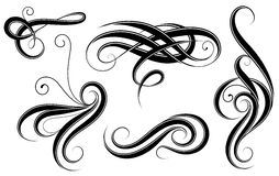 Set of calligrahic design elements Stock Photography