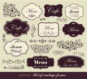 Set of calligraphic design elements royalty free stock image