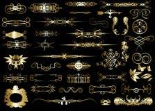 Set of calligraphic design elements Stock Photography