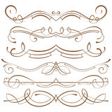 Set. calligraphic design elements and page decoration Stock Images