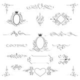 Set of calligraphic design elements. Vector. Royalty Free Stock Photography