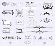 Set of calligraphic designs Royalty Free Stock Photography