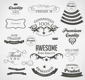 Set of calligraphic elements for design. Can be used for invitation, congratulation Stock Photo