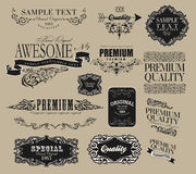 Set of calligraphic elements for design. Can be used for invitation, congratulation Stock Images