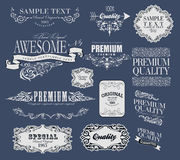 Set of calligraphic elements for design. Can be used for invitation, congratulation Stock Photography