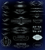 Set of calligraphic elements for design. Can be used for invitation, congratulation Stock Photos