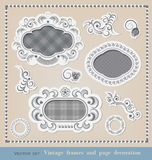 Set of calligraphic elements  and frames Stock Photos