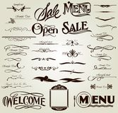 Set calligraphic elements. Vector Stock Photography