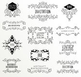 Set of calligraphic and floral Stock Images