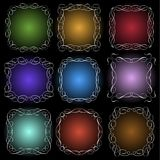 Set of calligraphic frames Royalty Free Stock Image