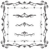 Set of Calligraphic frames and elements Stock Photo