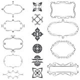 A set of calligraphic frames Royalty Free Stock Images