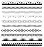 Set Calligraphic line design illustrator Royalty Free Stock Photo