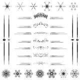 Set Calligraphic line design vector illustrator Stock Image