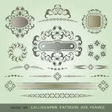 Set of calligraphic patterns Royalty Free Stock Photography