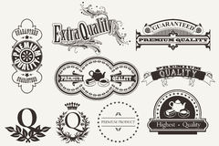 Set of calligraphic and typographic elements, fram Stock Photography