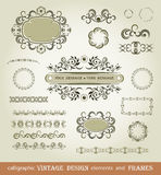 Set of calligraphy elements Royalty Free Stock Photography