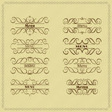 Set calligraphy monogram floral design, vintage pattern logo. EPS 10 Royalty Free Stock Photo