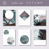 Set of calm autumn brochures Stock Photo