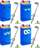 Set of calm book swinging his golf club Stock Image