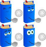 Set of calm volleyball player book Stock Photography